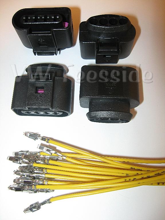 Set De 6 AUDI VW SKODA SEAT FORD Bobina De Encendido Conector Plug Pack cableado Telar